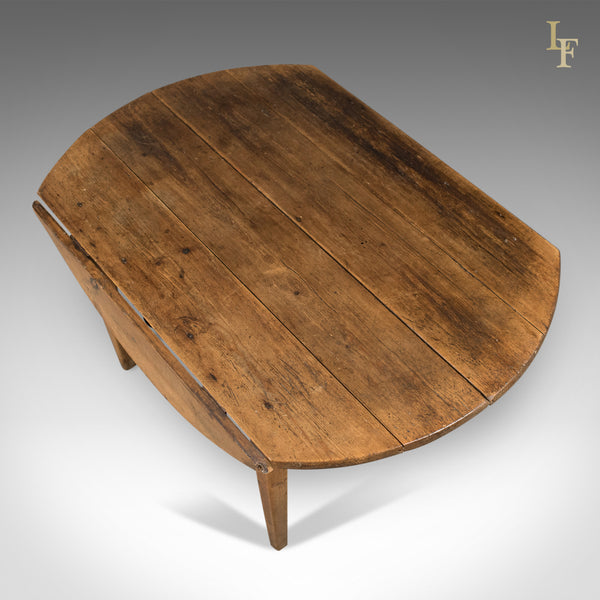 Antique Pine Table, French Country Kitchen Dining C.1850