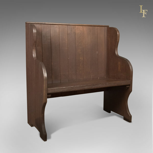 Antique Settle, 19th Century Bench, Pew, English, c.1890 - London Fine Antiques