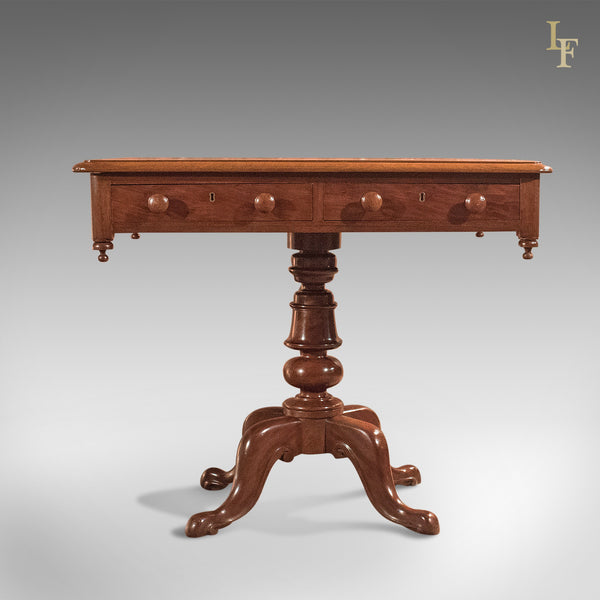 Antique Side Table, English Victorian Mahogany circa 1880 - London Fine Antiques