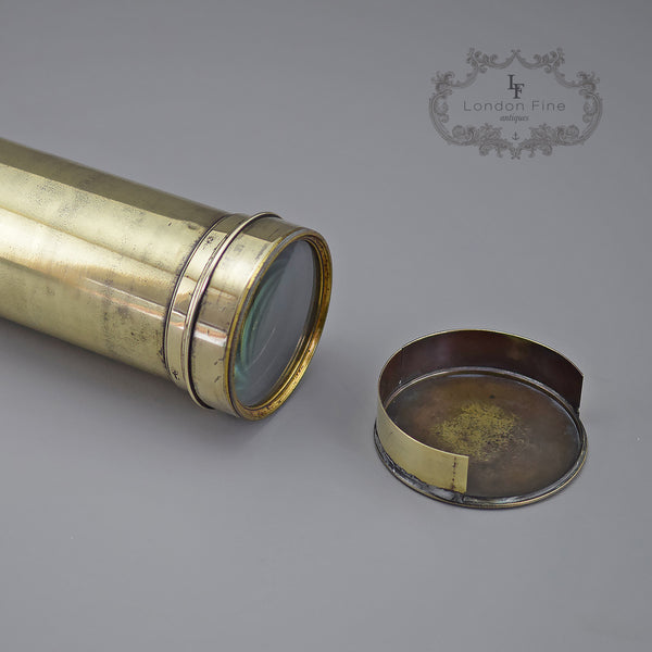 Antique Telescope, Large Dollond Four Draw - London Fine Antiques