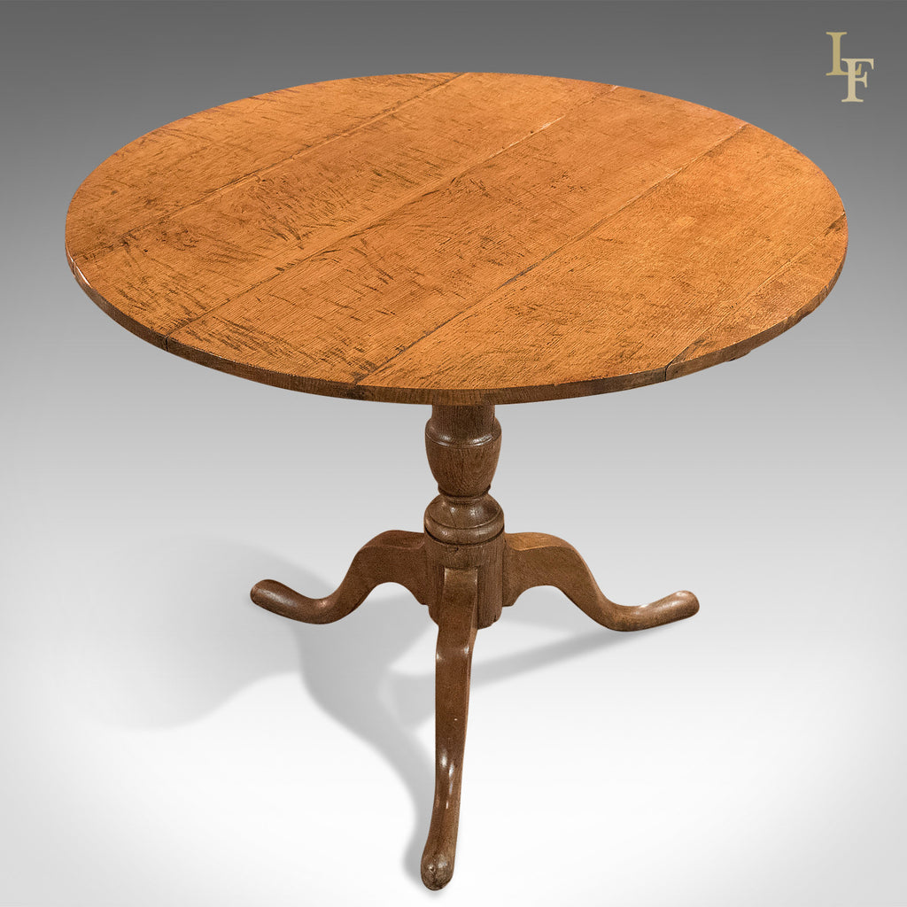 Antique Tilt Top Table, Georgian Oak c.1750 - London Fine Antiques