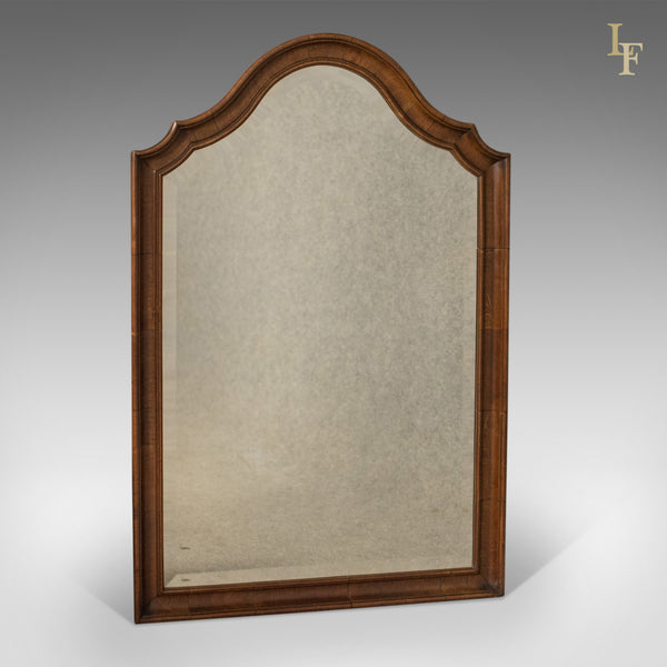 Antique Wall Mirror, English, Walnut, Edwardian c.1910 - London Fine Antiques