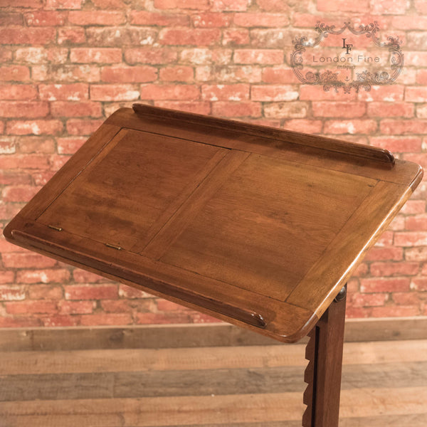 Victorian Walnut Reading Table, c.1880 - London Fine Antiques - 9