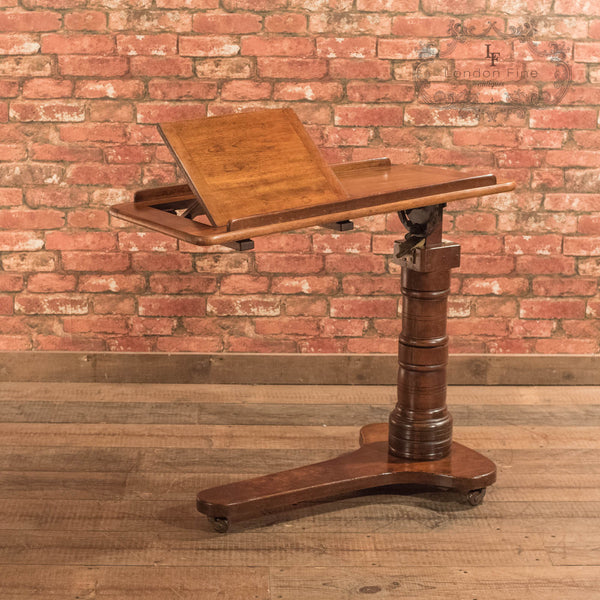 Victorian Walnut Reading Table, c.1880 - London Fine Antiques - 4