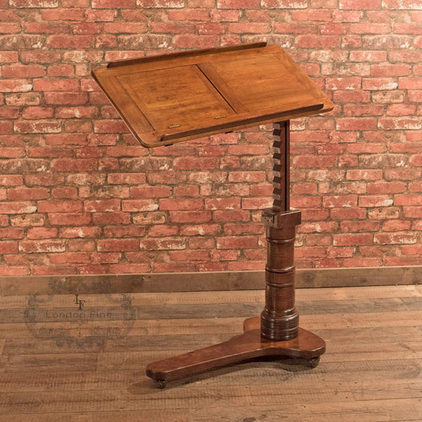 Victorian Walnut Reading Table, c.1880 - London Fine Antiques - 1