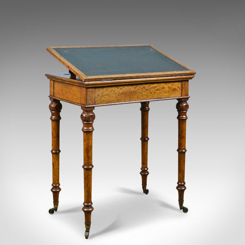 Antique, Adjustable Writing Table, English, Oak, Johnstone and Jeanes, c.1850 - London Fine Antiques