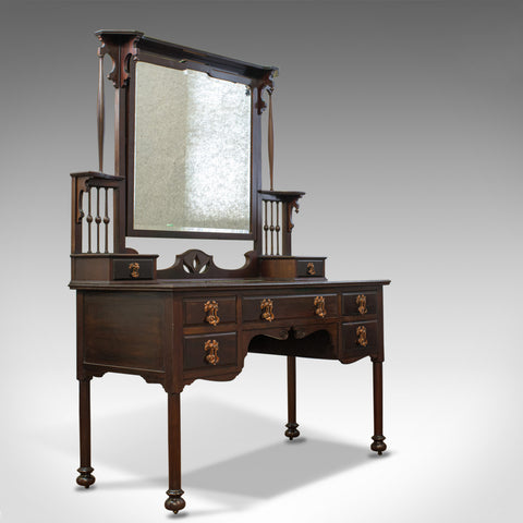 Antique Art Nouveau Dressing Table, English, Maple and Co., Mahogany, Circa 1890 - London Fine Antiques