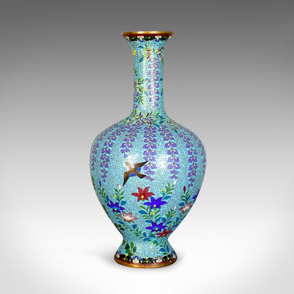 Antique Baluster Vase, Japanese, Cloisonné, Stem, Meiji Era, Circa 1900 - London Fine Antiques
