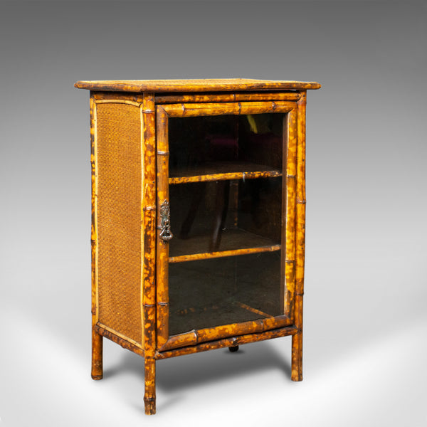 Antique Bamboo Cabinet, Victorian, Oriental, Bedside, Rattan, Glazed, Circa 1900 - London Fine Antiques