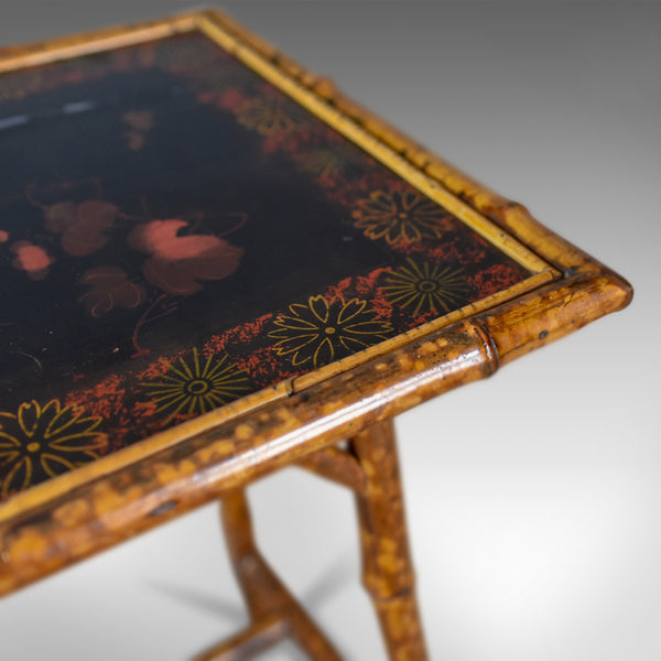 Antique Bamboo Table, Side, Occasional, Oriental, Victorian Circa 1900 - London Fine Antiques