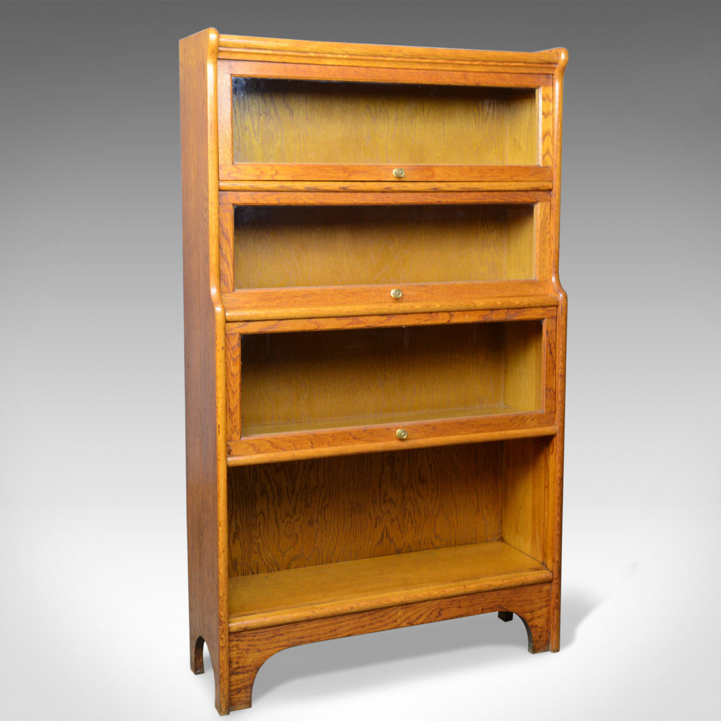 Antique Barrister's Bookcase, Four Section, Glazed, Globe Wernicke Taste c.1910 - London Fine Antiques