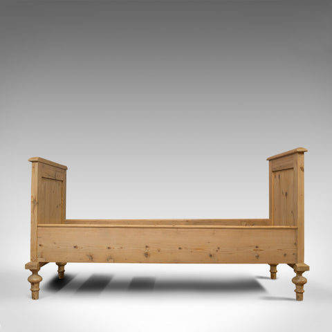 Antique Bed Frame, English, Victorian, Pine, Bedstead, Late 19th Century, C.1900 - London Fine Antiques