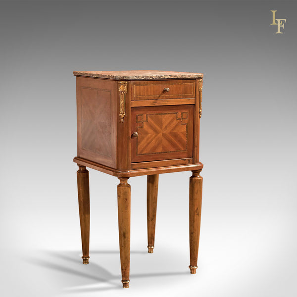 Antique Bedside Table, Mahogany Pot Cupboard, Nightstand c1900 - London Fine Antiques