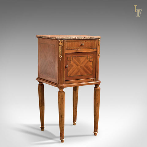 Antique Bedside Table, Mahogany Pot Cupboard, Nightstand c1900