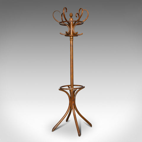 Antique Bentwood Coat Rack, Hall Stand, Thonet, Café, Coat Stick Umbrella, c1910 - London Fine Antiques