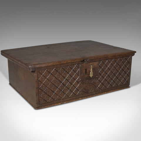 Antique Bible Box, English Oak Chest, Circa 1700 - London Fine Antiques
