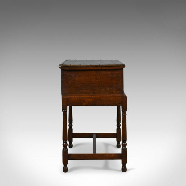 Antique Bible Box on Stand, English, Oak, Chest, 17th Century & Later - London Fine Antiques