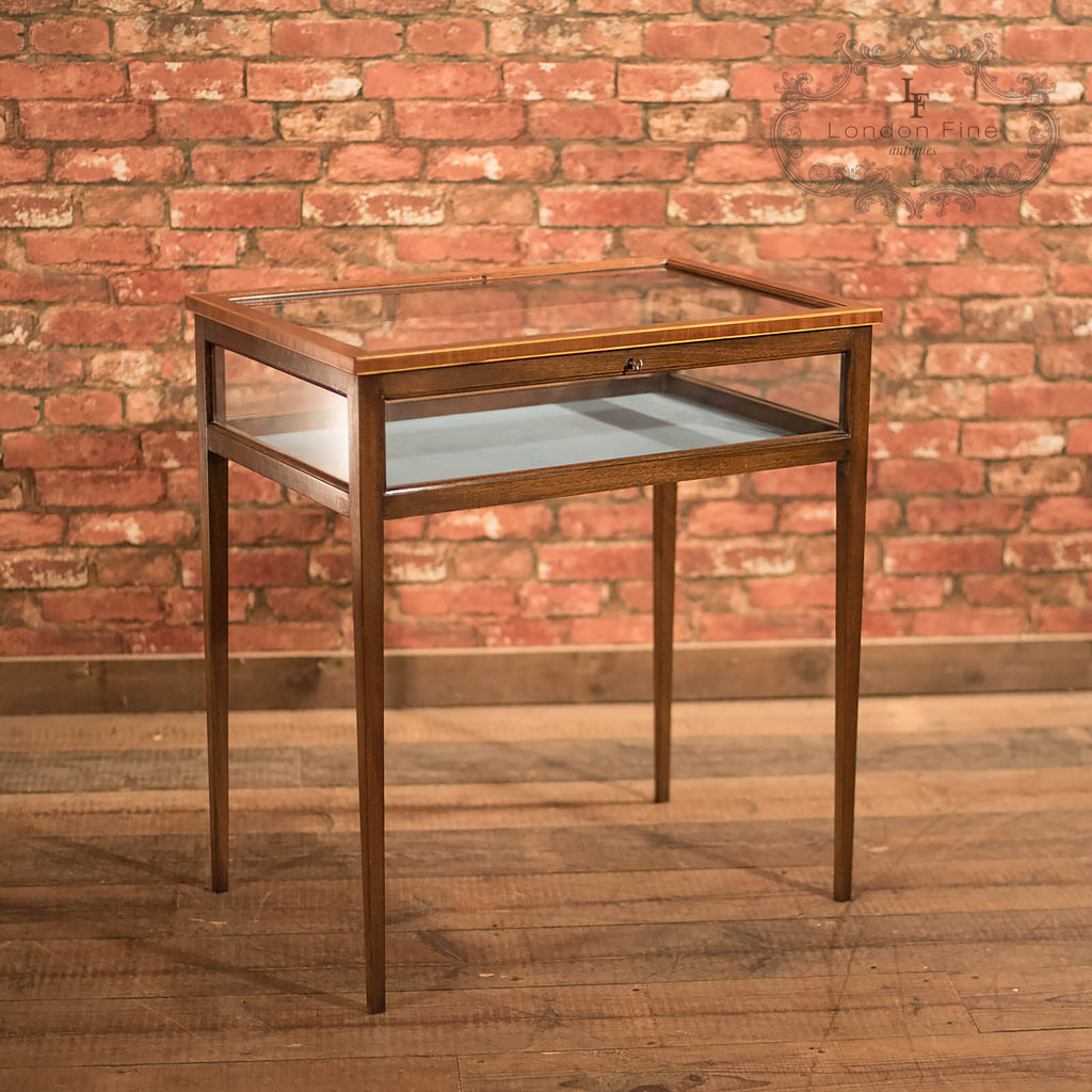 Antique Bijouterie Table, Edwardian Display Case - London Fine Antiques