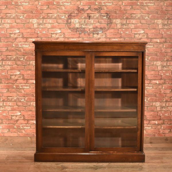 Edwardian Sliding Glazed Door Bookcase, c.1910 - London Fine Antiques - 6