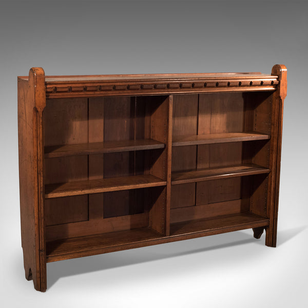 Antique Bookcase, Engish, Oak, Victorian, Book Shelf, Ecclesiastical Circa 1850