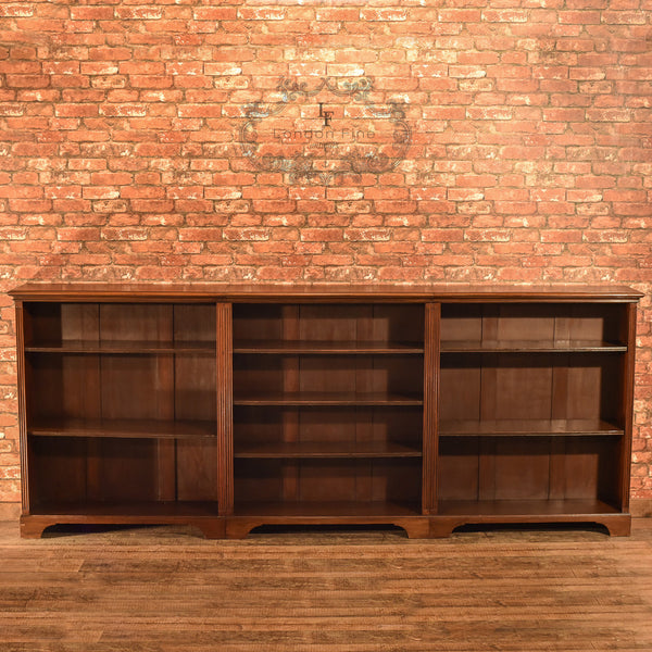 Late Victorian, Mahogany Triple Bookcase, c.1900 - London Fine Antiques - 2
