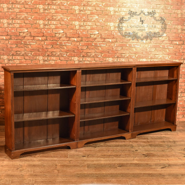 Late Victorian, Mahogany Triple Bookcase, c.1900 - London Fine Antiques