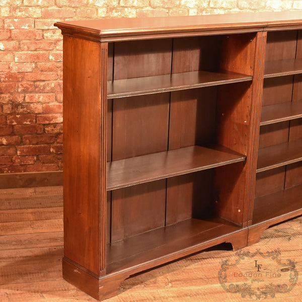 Late Victorian, Mahogany Triple Bookcase, c.1900 - London Fine Antiques - 3