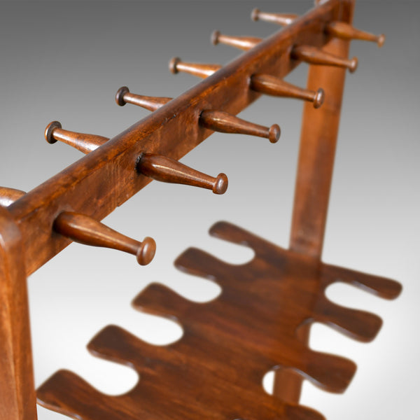Antique Boot Rack, Welsh, Victorian, Riding Crop Stand, Mahogany, Circa 1890 - London Fine Antiques