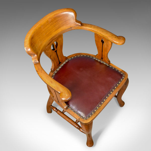 Antique Bow-Back Armchair, Edwardian, Art Nouveau, Liberty-esque, Walnut c.1910 - London Fine Antiques