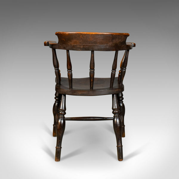 Antique Bow-Back Chair, English Victorian Elm Windsor c.1870