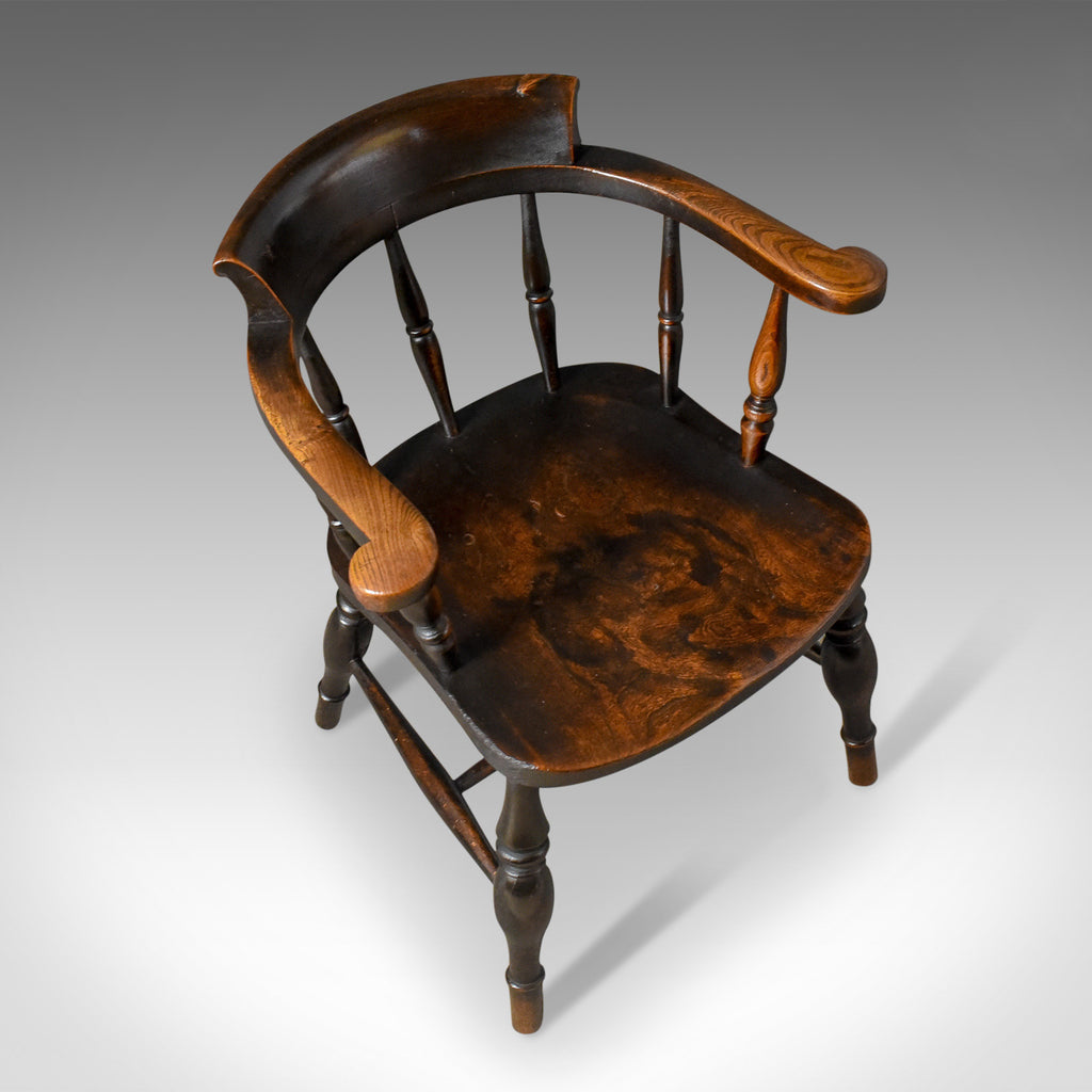 ... Antique Bow-Back Chair English Victorian Elm Windsor c.1870 - London Fine ... : antique english windsor chairs - Cheerinfomania.Com