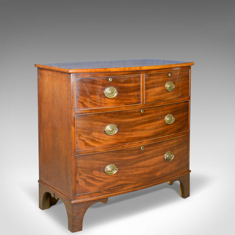 Antique Bow Front Chest of Drawers, English, Georgian, Mahogany, Circa 1790 - London Fine Antiques