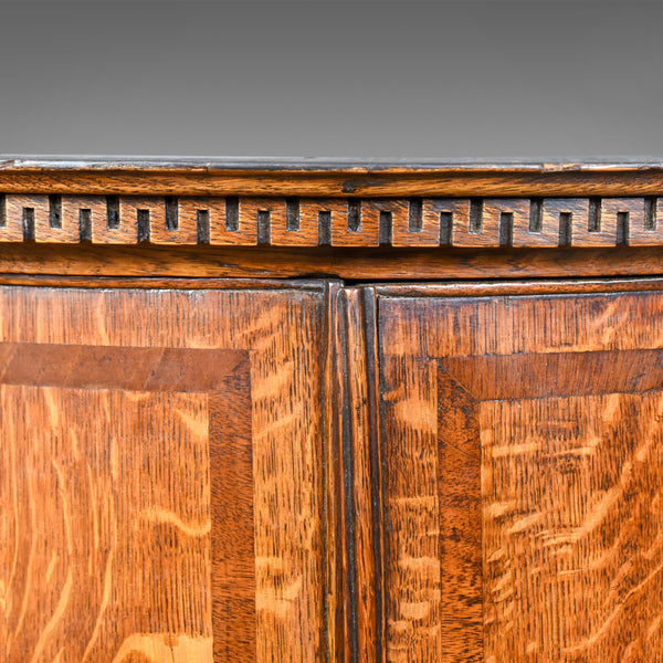 Antique Bow Fronted Corner Cabinet, English, Georgian, Oak, Hanging Circa 1770 - London Fine Antiques