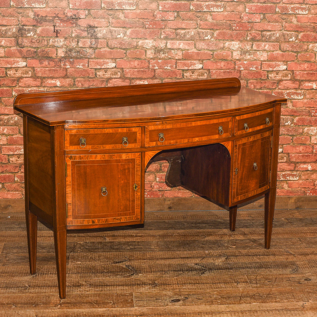 Late Victorian Bow Fronted Sideboard, c.1900 - London Fine Antiques