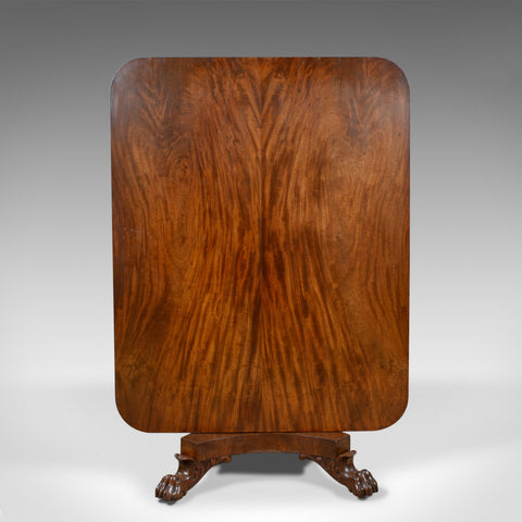 Antique Breakfast Table, English, Regency, Flame Mahogany, Tilt-Top, Circa 1830 - London Fine Antiques
