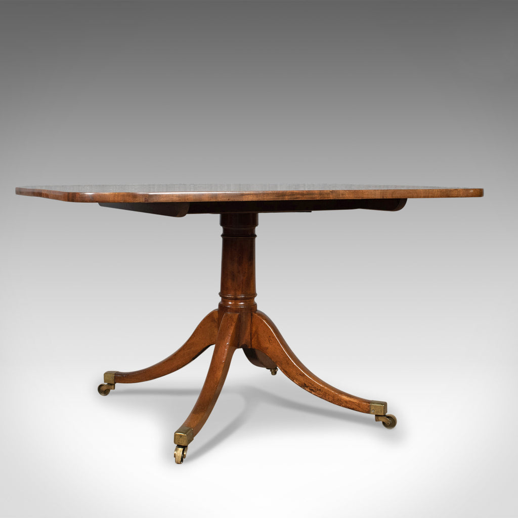 Antique Breakfast Table, English, Regency, Mahogany, Tilt-Top, Dining Circa 1820 - London Fine Antiques