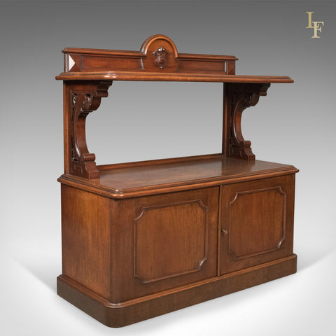 Antique Buffet, Scottish Server Cabinet, Mahogany, Mid Victorian c.1870