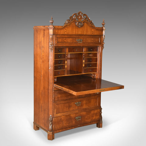 Antique Bureau Desk, French, Escritoire, Oak, 19th Century Circa 1870 - London Fine Antiques