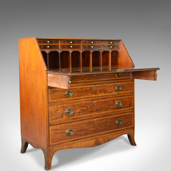 Antique Bureau, Mahogany, English, Georgian, Desk, 18th Century, Circa 1770 - London Fine Antiques
