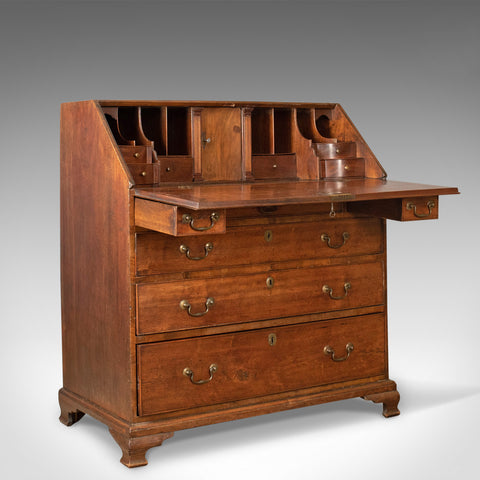 Antique Bureau, Mahogany, English, Georgian, Desk, Secret Compartments, c.1780 - London Fine Antiques