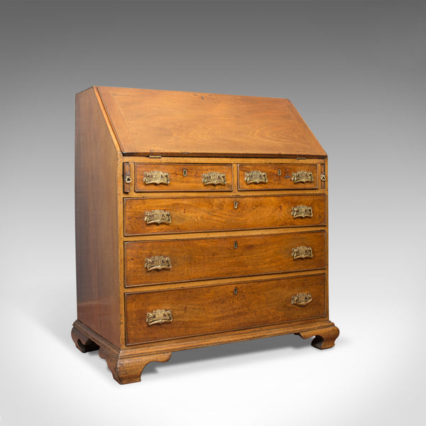 Antique Bureau, Mahogany, English, Georgian, Desk, Circa 1780 - London Fine Antiques