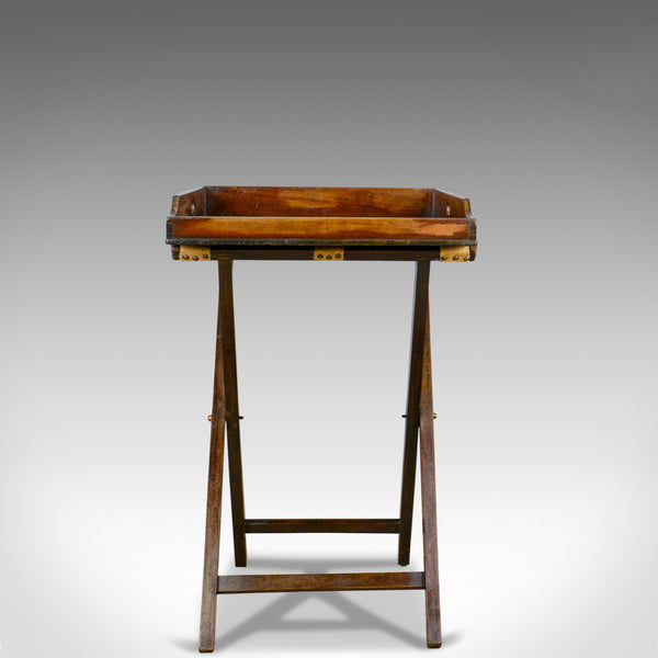 Antique Butler's Tray Table, English, Mahogany, Folding Stand, Circa 1900 - London Fine Antiques