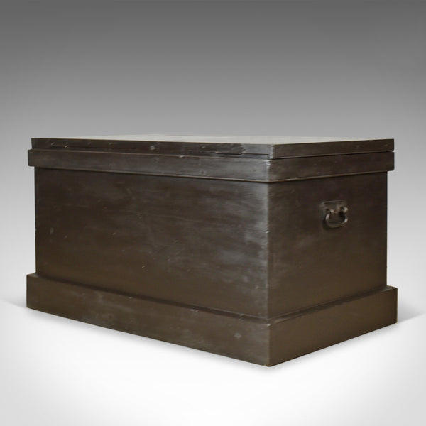 Antique Campaign Chest, English, Ebonised, Mahogany Trunk, Circa 1880 - London Fine Antiques