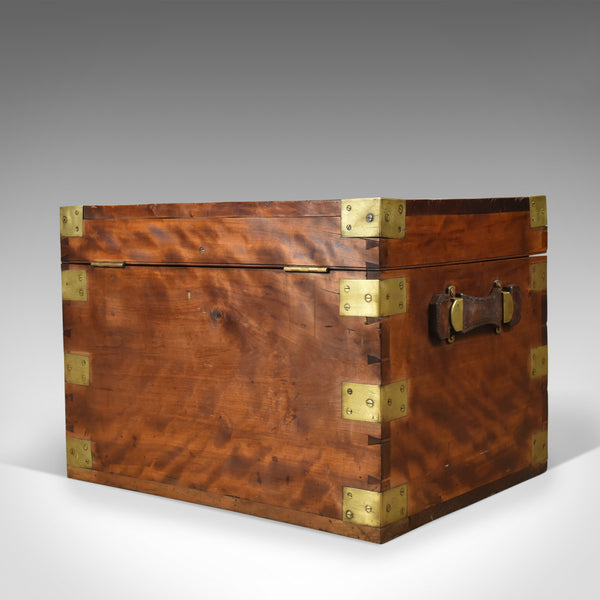 Antique Steamer Chest, Marine, English Travel Ship's Trunk W Insall & Sons c1870 - London Fine Antiques