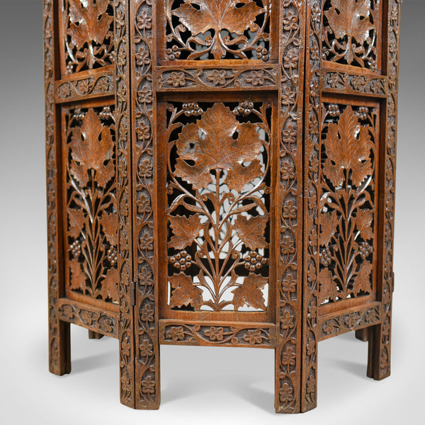 Antique Campaign Table, Carved, Anglo-Indian, Teak, Side, Circa 1900 - London Fine Antiques
