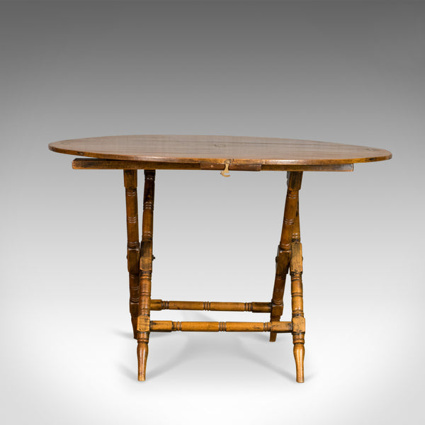Antique Campaign Table, English, Victorian, Folding, Beech, Fruitwood Circa 1890 - London Fine Antiques