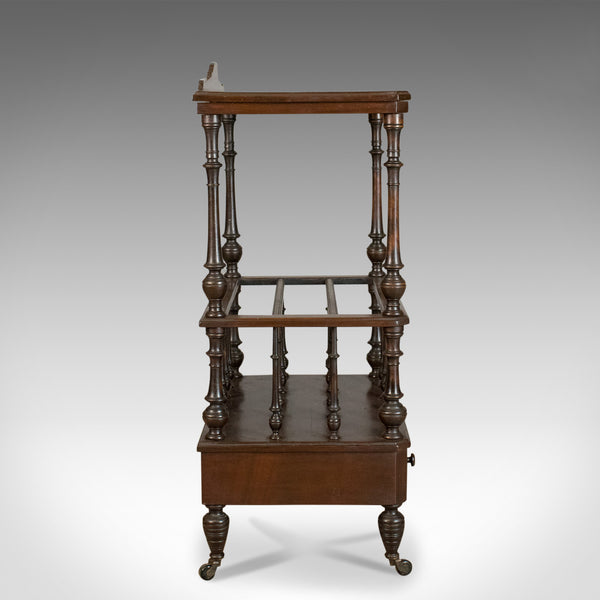 Antique Canterbury Side Table, Mahogany, English, Victorian, Circa 1880 - London Fine Antiques