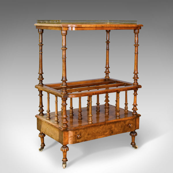 Antique Canterbury Table, English, Regency, Burr Walnut, Circa 1830 - London Fine Antiques