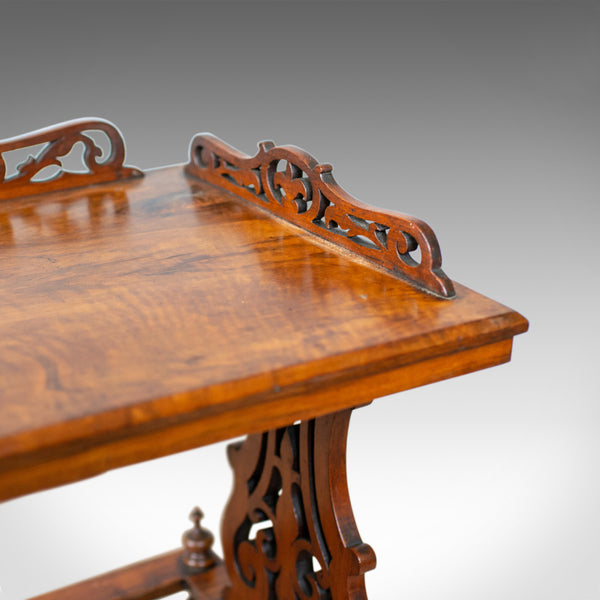 Antique Canterbury Table, English, Victorian, Music Stand, Walnut, Circa 1860 - London Fine Antiques