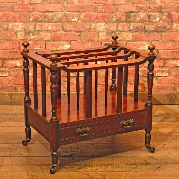 Victorian Mahogany Canterbury, c.1850 - London Fine Antiques - 1
